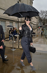 Daisy Lowe arriving at the Topshop Unique catwalk show A/W 2015, at The Topshop Show Space, Tate Britain in London, England during London Fashion Week. 22nd February 2015. Photo by James Warren/Photoshot. EXPA Pictures © 2015, PhotoCredit: EXPA/ Photoshot/ James Warren<br /> <br /> *****ATTENTION - for AUT, SLO, CRO, SRB, BIH, MAZ only*****