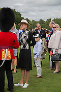 GUARDSMAN; SHARON STONE; ROAN, Cartier Queen's Cup final at Guards Polo Club, Windsor Great Park. 16 June 2013