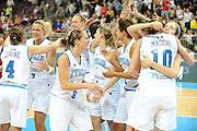 DESCRIZIONE : Riga Latvia Lettonia Eurobasket Women 2009 Semifinal 5th-8th Place Italia Lettonia Italy Latvia<br /> GIOCATORE : Laura Macchi Chiara Pastore Simona Ballardini<br /> SQUADRA : Italia Italy<br /> EVENTO : Eurobasket Women 2009 Campionati Europei Donne 2009 <br /> GARA : Italia Lettonia Italy Latvia<br /> DATA : 19/06/2009 <br /> CATEGORIA : esultanza<br /> SPORT : Pallacanestro <br /> AUTORE : Agenzia Ciamillo-Castoria/M.Marchi<br /> Galleria : Eurobasket Women 2009 <br /> Fotonotizia : Riga Latvia Lettonia Eurobasket Women 2009 Semifinal 5th-8th Place Italia Lettonia Italy Latvia<br /> Predefinita :