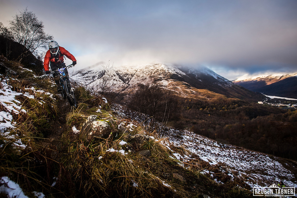 Simon Goodwin tackles stage one of the Kinlochleven Enduro.