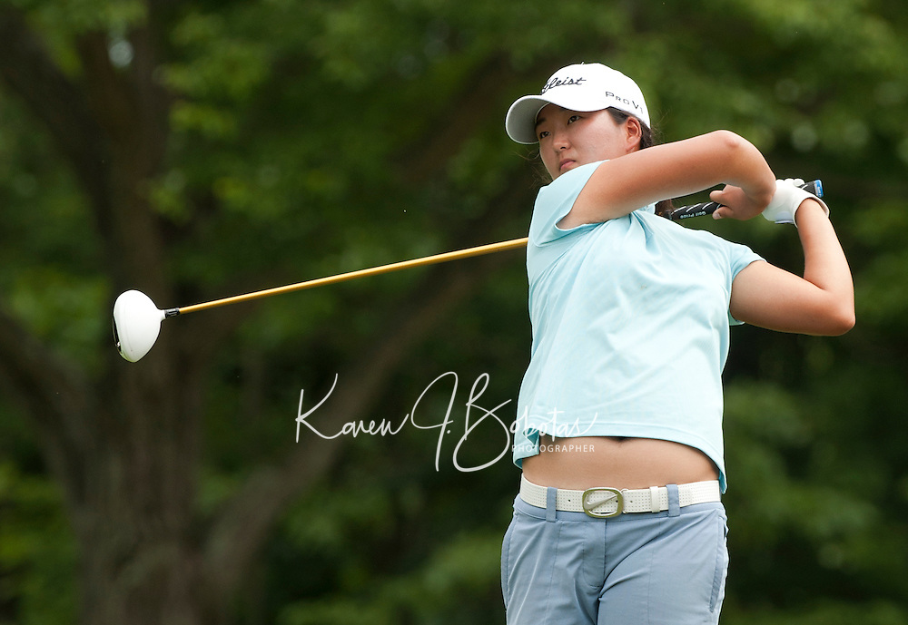 Min Seo Kwak during LPGA Futures Tour Saturday, July 23rd.  (Karen Bobotas/for the Concord Monitor)