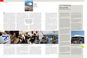 "TEARSHEET: ""SQ380 - The Airbus A380's first commercial flight"" by Heimo Aga for profil."