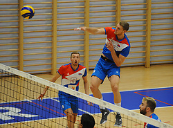 Drazen Luburic of Serbia during friendly volleyball match between National teams of Serbia and Slovenia, on August 18, 2017, in Belgrade, Serbia. Photo by Nebojsa Parausic / MN press / Sportida