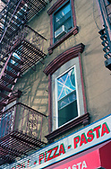 Fire escapes on 8th Avenue and 56th street, New York City.