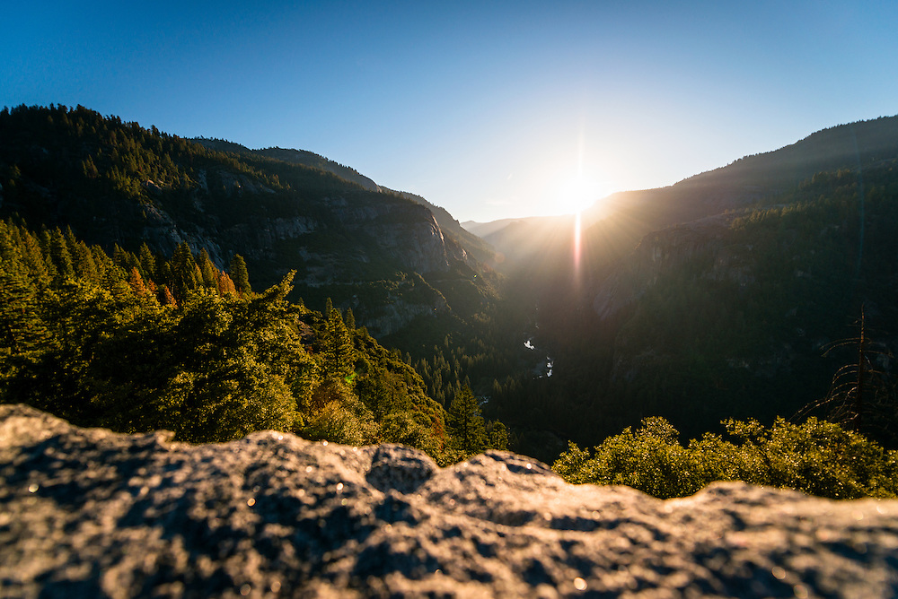 Sunrising in Yosemite Valley