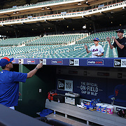 Wilmer Flores, New York Mets, at batting practice signing autographs before the New York Mets Vs Washington Nationals MLB regular season baseball game at Citi Field, Queens, New York. USA. 2nd August 2015. Photo Tim Clayton