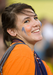 Girlfriend of Vid Jakopin of ACH at  match for 3rd place of CEV Indesit Champions League FINAL FOUR tournament between PGE Skra Belchatow, POL and ACH Volley Bled, SLO on May 2, 2010, at Arena Atlas, Lodz, Poland. Belchatow defeated ACH 3-1. (Photo by Vid Ponikvar / Sportida)