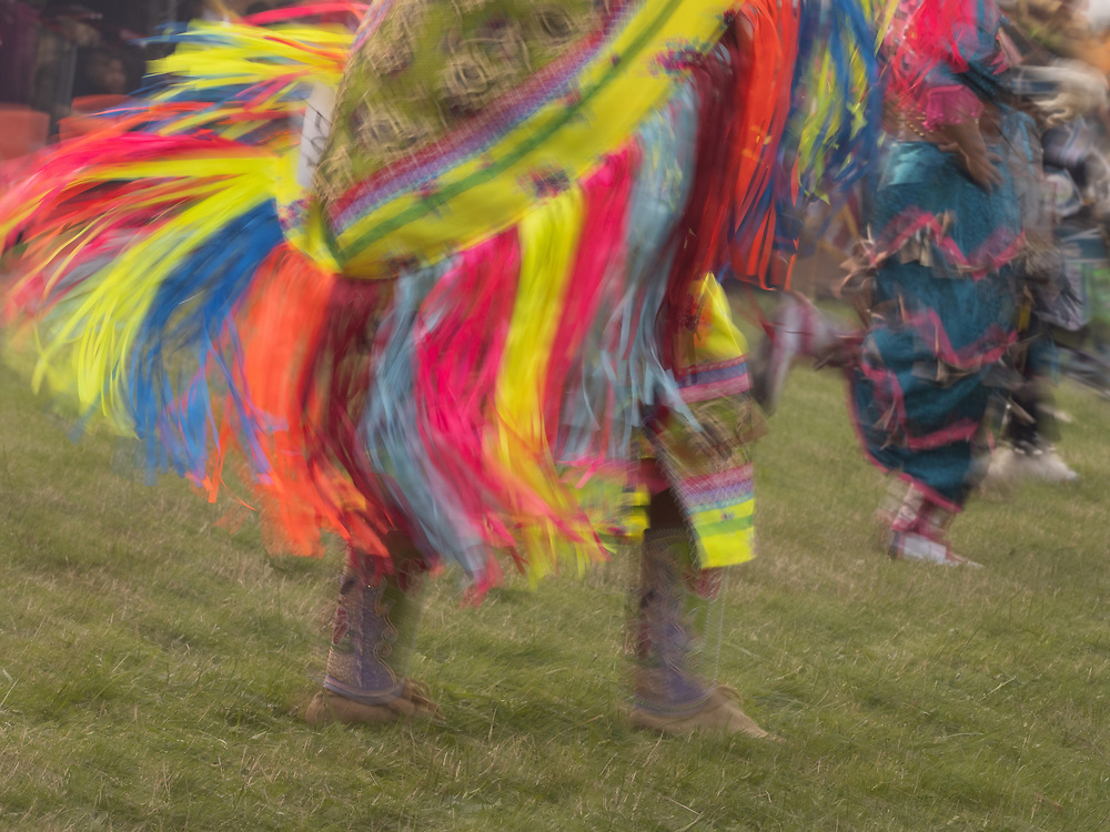 United States, Seattle, dancers in motion at Seafair Indian Days Powwow, held annually in July