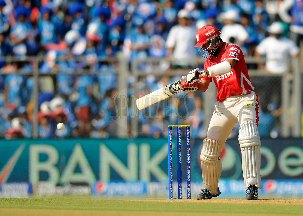 Cheteshwar Pujara of the Kings X1 Punjab bats during match 22 of the Pepsi Indian Premier League Season 2014 between the Mumbai Indians and the Kings XI Punjab held at the Wankhede Cricket Stadium, Mumbai, India on the 3rd May  2014<br /> <br /> Photo by Pal Pillai / IPL / SPORTZPICS<br /> <br /> <br /> <br /> Image use subject to terms and conditions which can be found here:  http://sportzpics.photoshelter.com/gallery/Pepsi-IPL-Image-terms-and-conditions/G00004VW1IVJ.gB0/C0000TScjhBM6ikg
