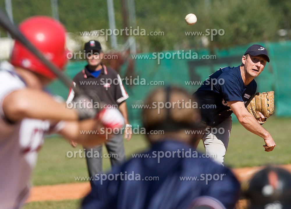 Baseball match between team's Jezica and Zajcki on October 1, 2011 in Ljubljana, Slovenia  (Photo by Grega Valancic / Sportida)