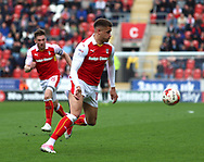 Carlton Morris of Rotherham United controls the ball in the Fulham area during the Sky Bet Championship match at the New York Stadium, Rotherham<br /> Picture by James Wilson/Focus Images Ltd 07709 548263<br /> 01/04/2017