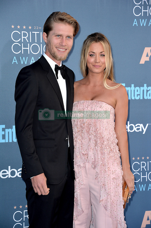 Kaley Cuoco and Karl Cook attend the 22nd Annual Critics' Choice Awards at Barker Hangar on December 11, 2016 in Santa Monica, Los Angeles, CA, USA. Photo By Lionel Hahn/ABACAPRESS.COM