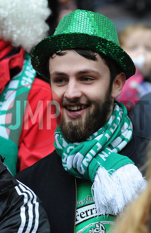 North Ferriby United supporter at Wembley Stadium for FA Trophy Final - Photo mandatory by-line: Paul Knight/JMP - Mobile: 07966 386802 - 29/03/2015 - SPORT - Football - London - Wembley Stadium - North Ferriby United v Wrexham - FA Trophy