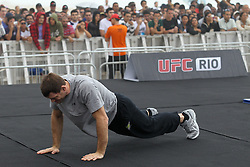 August 24, 2011; Rio De Janiero, Brazil; Fighter workouts for UFC 134 on Copacabana Beach.