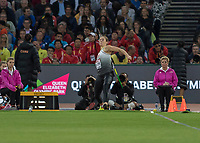 Athletics - 2017 IAAF London World Athletics Championships - Day Five, Evening Session<br /> <br /> Javelin Throw Women Final<br /> <br /> Kathrina Molitor (Germany) throws the javelin at the London Stadium<br /> <br /> COLORSPORT/DANIEL BEARHAM