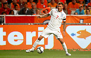 David Beckham (ENG) in action during the International Friendly between Netherlands and England at the Amsterdam Arena on August 12, 2009 in Amsterdam, Netherlands.