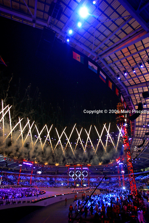 Fireworks From The Roof Of Stadio Olimpico Close Opening Ceremonies 2006 Winter