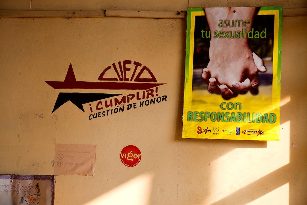 Safe sex in Cueto, Holguin, Cuba.