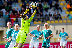 Zala Mersnik of Slovenia during football match between Slovenia and Germany in Womans Qualifications for World Championship 2019, on April 10, 2018 in Sports park Domzale, Domzale, Slovenia. Photo by Ziga Zupan / Sportida