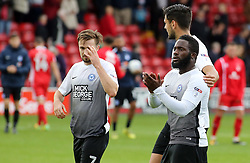 Junior Morias of Peterborough United acknowledges the supporters at full-time - Mandatory by-line: Joe Dent/JMP - 16/09/2017 - FOOTBALL - Banks's Stadium - Walsall, England - Walsall v Peterborough United - Sky Bet League One