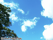 The blue sky gets a little creative.