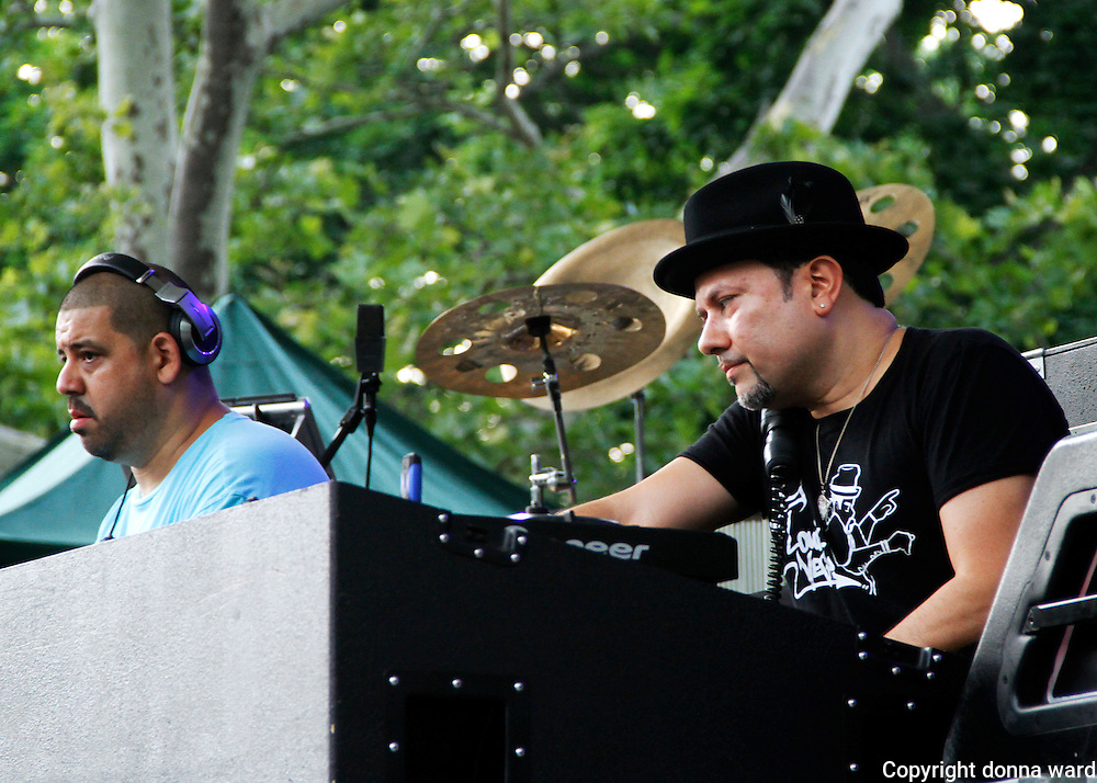Msaters At Work perform during the 30th Anniversary season of Central Park SummerStage in Rumsey Playfield in New York City, New York on July 01, 2015.