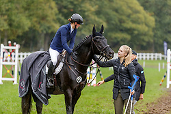 LEUBE Sophie (GER), SWEETWATERS ZIETHEN, BUSACKER Greta<br /> Le Lion d'Angers - FEI Eventing World Breeding Championship 2019<br /> Impressionen am Rande<br /> Teilprüfung Springen 6 jährige Finale<br /> 20. Oktober 2019<br /> © www.sportfotos-lafrentz.de/Stefan Lafrentz