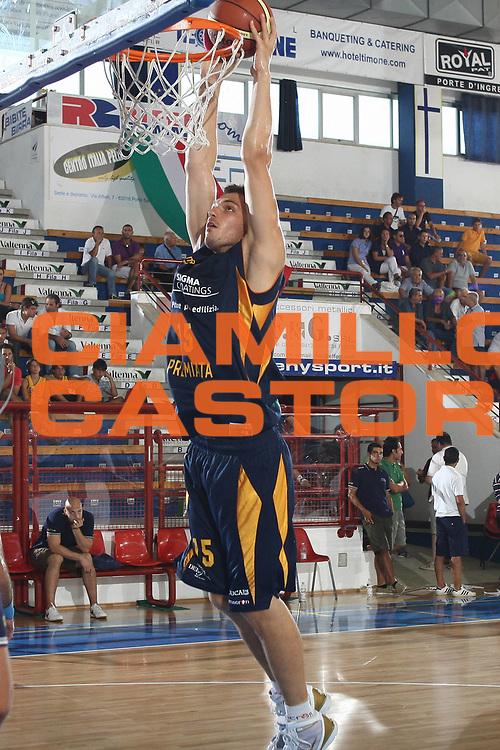 DESCRIZIONE : Porto San Giorgio Lega A 2009-10 Amichevole Sigma Coatings Montegranaro Prima Veroli<br /> GIOCATORE : Luca Lechthaler<br /> SQUADRA : Sigma Coatings Montegranaro<br /> EVENTO : Campionato Lega A 2009-2010<br /> GARA : Sigma Coatings Montegranaro Prima Veroli<br /> DATA : 05/09/2009<br /> CATEGORIA : schiacciata<br /> SPORT : Pallacanestro<br /> AUTORE : Agenzia Ciamillo-Castoria/C.De Massis