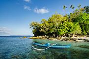 Outrigger canoe<br /> Ceram Island<br /> Banda Sea<br /> Indonesia