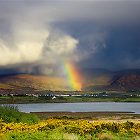 Stormy Rainbow Day over Waterville, County Kerry, Ireland / rb006