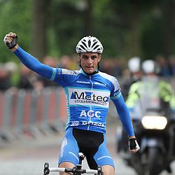 Dennis Smit woprdt in Dalen Nederlands kampioen bij de elite renners zonder contract