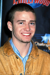 Mar. 18, 2001 - New York, New York, U.S. - K21360HMC.N'SYNC UNVEIL A T-SHIRT FOR CHARITY AT PLANET HOLLYWOOD NEW YORK New York .03/18/2001.  /    2001.N'SYNC.JUSTIN TIMBERLAKE.CELEBRITYCHARITY(Credit Image: © Henry McGee/ZUMAPRESS.com)