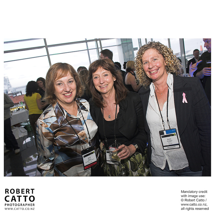 Ruth Harley;Yvonne MacKay;Karla Rodgers at the Spada Conference 06 at the Hyatt Regency Hotel, Auckland, New Zealand.<br />