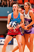 Steel's Shannon Saunders (L) reacts.<br /> Stars v Steel, ANZ Premiership, Pulman Arena, Auckland, New Zealand. Sunday 14 April 2019. © Copyright Image: Marc Shannon / www.photosport.nz.