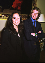 MR & MRS MARK GETTY members of the billionaire Getty family, at a party in London on 9th July 1998.MJA 133