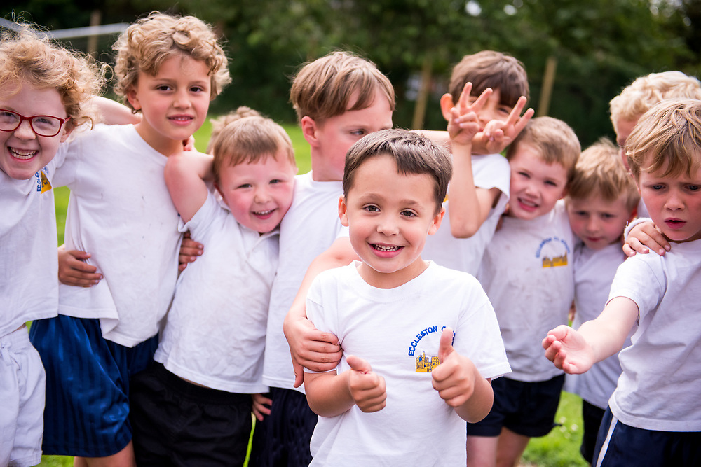 Pictures of children running around from Eccleston Primary School for their new prospectus. Photography by Ioan Said Photography