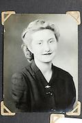 vintage studio portrait of adult female person