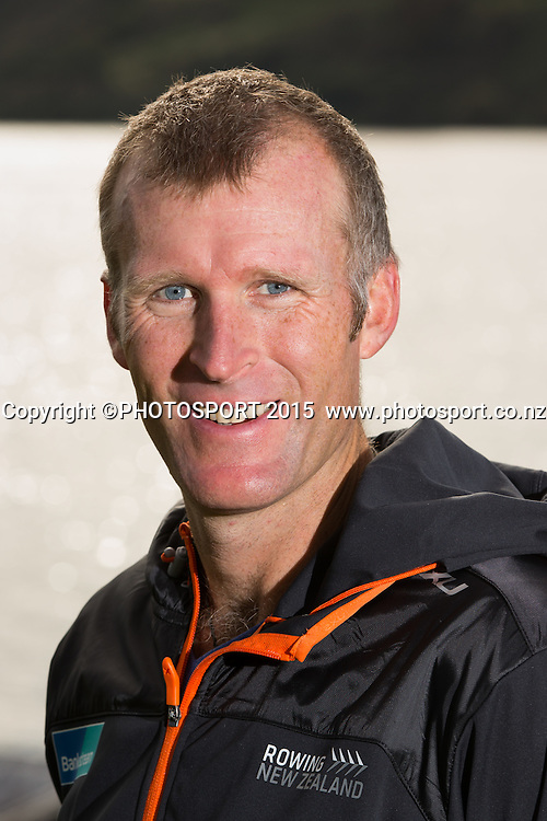 Men's Single Scull Mahe Drysdale  at the Rowing NZ Media Day, Lake Karapiro, Cambridge, New Zealand, Wednesday 6 May 2015. Photo: Stephen Barker/Photosport.co.nz