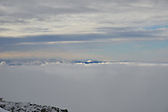 Undercast as seen from the summit of Mount Washington, New Hampshire.