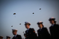 Parachuters in Utah beach for the 69th anniversary of the D Day