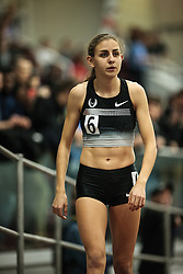 Boston University Multi-team indoor track & field meet, Mary Cain gets ready for 1000 meter race