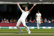 Pat Cummins of Australia unsuccessfully appeals for an lbw against Ben Stokes of England during the International Test Match 2019 match between England and Australia at Lord's Cricket Ground, St John's Wood, United Kingdom on 18 August 2019.