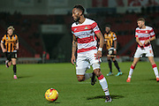 Cedric Evina (Doncaster Rovers) during the Sky Bet League 1 match between Doncaster Rovers and Port Vale at the Keepmoat Stadium, Doncaster, England on 26 January 2016. Photo by Mark P Doherty.