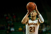 WACO, TX - JANUARY 3: Isaiah Austin #21 of the Baylor Bears shoots a free-throw against the Savannah State Tigers on January 3, 2014 at the Ferrell Center in Waco, Texas.  (Photo by Cooper Neill) *** Local Caption *** Isaiah Austin