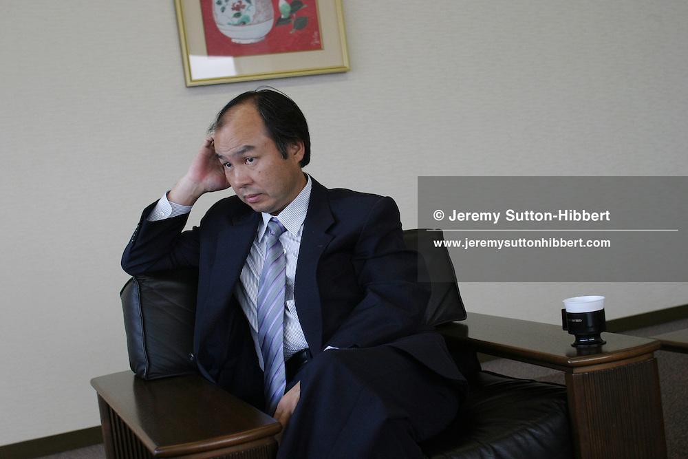Masayoshi Son, President and CEO of Softbank Corp., Tokyo, Japan, 27/07/04.