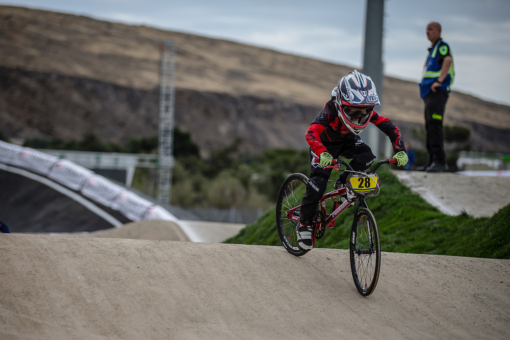 13 Boys #28 (BEAUCAMP Simon) FRA during practice at the 2018 UCI BMX World Championships in Baku, Azerbaijan.