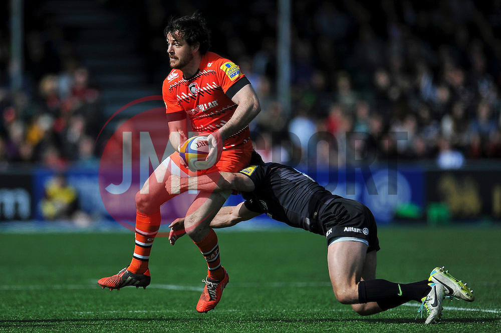 Matt Smith of Leicester Tigers - Photo mandatory by-line: Patrick Khachfe/JMP - Mobile: 07966 386802 11/04/2015 - SPORT - RUGBY UNION - London - Allianz Park - Saracens v Leicester Tigers - Aviva Premiership