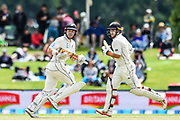 Henry Nicholls of the Black Caps  and Tom Latham of the Black Caps lduring Day3 of the cricket test match, Black Caps v Sri Lanka, Hagley Oval, Christchurch, New Zealand, 28th December 2018.Copyright photo: John Davidson / www.photosport.nz