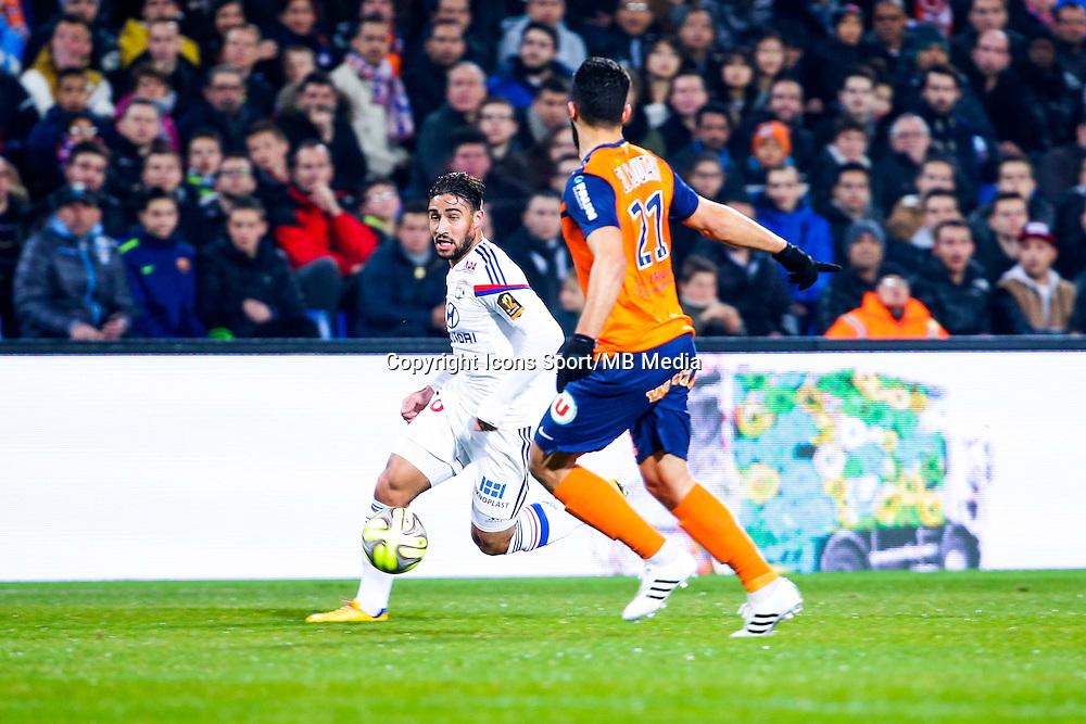Nabil Fekir - 08.03.2015 -  Montpellier / Lyon  -  28eme journee de Ligue 1 <br />Photo : Andre Delon / Icon Sport<br /><br />  *** Local Caption ***