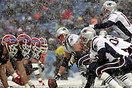 Two teams square off in the snow, New England Patriots @ Buffalo Bills, 11 Dec 05, 1pm, Ralph Wilson Stadium, Orchard Park, NY